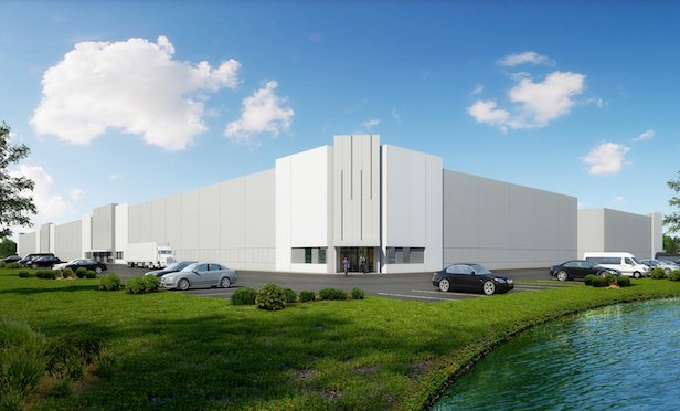 A rendering of the Midpointe Miami Logistics Park.