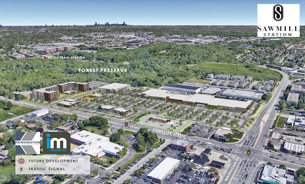 A rendering of Sawmill Station in Morton Grove, IL.