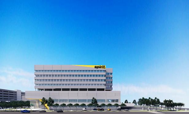 Rendering of Spirit Airlines new headquarters in Dania Beach, FL.
