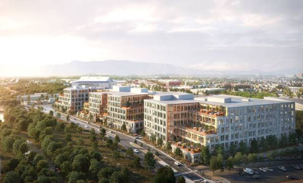 Platform 16 is a 1.1 million-square-foot class-A office project that is adjacent to Google's transit village (credit: TMG Partners)).