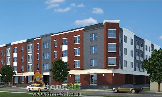A rendering of Netherwood Flats in Plainfield, NJ.