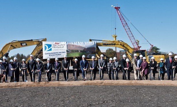 The groundbreaking ceremony for the new $800-million Valley Hospital in Paramus was staged on Friday.
