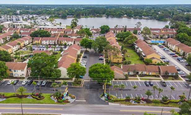The 278-unit Amber Lakes development is located in Winter Park, FL.