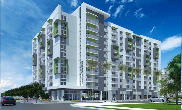 A rendering of the Gallery at River Parc in Little Havana.