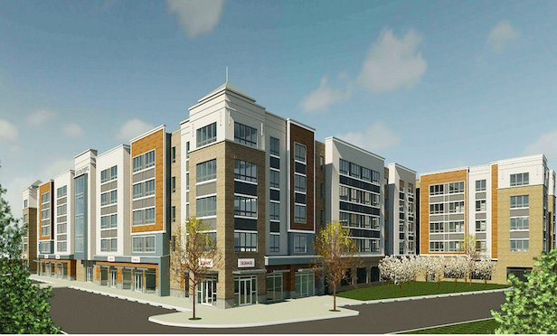 A rendering of 10 Green St. located adjacent to the Woodbridge train station.