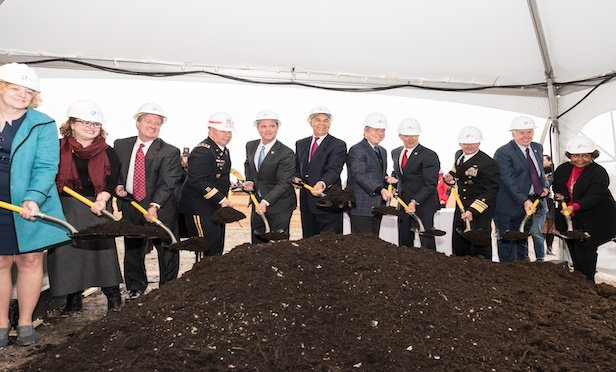 Approximately 400 guests, including state and local politicians, military leaders, residents, NGA employees, business representatives and federal intelligence officials, attended a Nov. 26 groundbreaking ceremony for the NGA project.