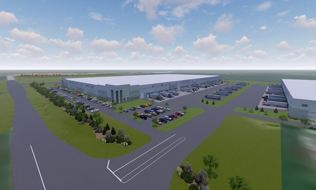 A rendering of the Bristol Highlands Commerce Center.