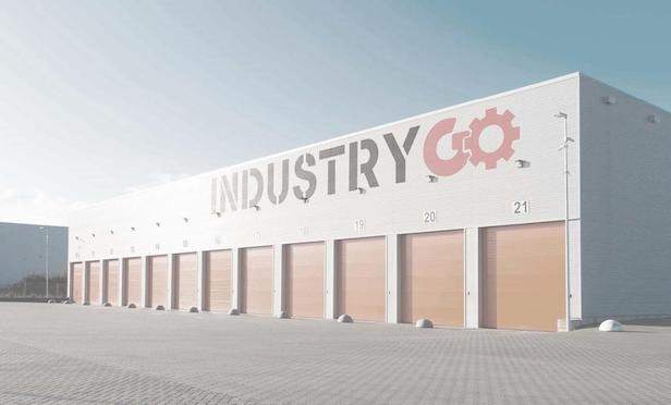 A rendering of one of the film studio properties to be developed in Jersey City, NJ by INDUSTRY GO.