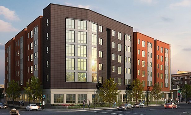 A rendering of the planned new Stockton University residence hall in Atlantic City, NJ.