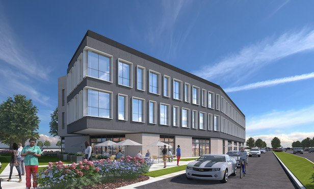A rendering of the $200-million mixed-use Ogden Commons project.