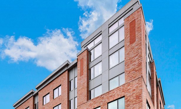 The 70-unit Lofts Two22 development is located in Bayonne's Loft District.