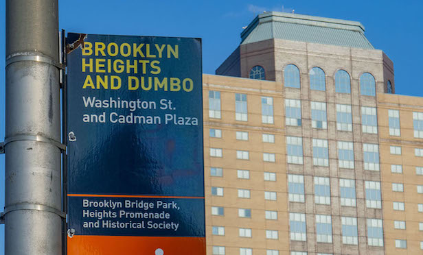 The former Jehovah Witnesses' hotel in the DUMBO section of Brooklyn was purchased by Breaking Ground in 2018.