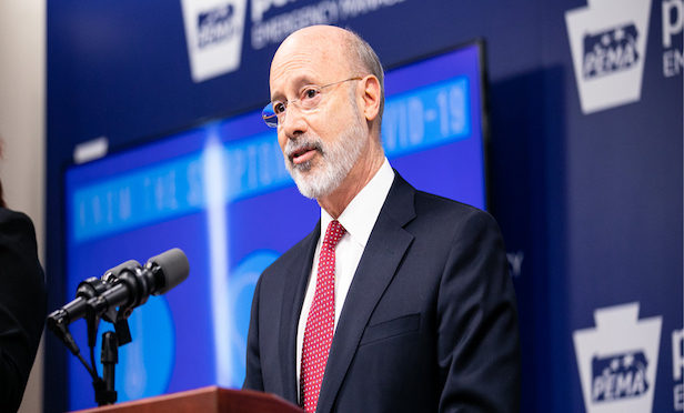 Pennsylvania Gov. Tom Wolf released a detailed plan to restart the economy on April 22.