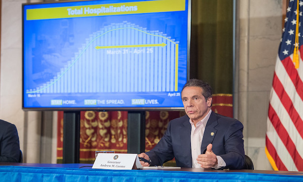 New York Gov. Andrew Cuomo announced a phased restart of the New York economy that could begin as early as May 15.