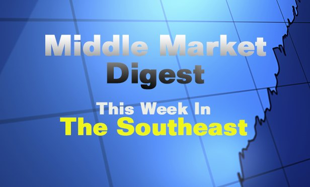 Middle Market Digest: Early This Week in the Southeast