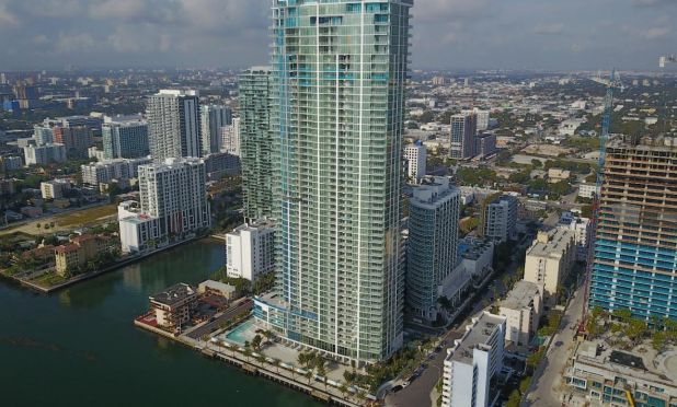 Biscayne Beach condominium in Downtown Miami's East Edgewater neighborhood