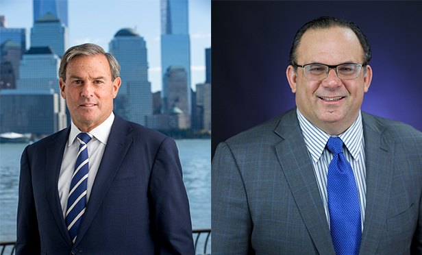Mitchell E. Rudin, being named vice chairman, left, and Michael J. DeMarco, named chief executive officer, Mack-Cali Realty Corporation.