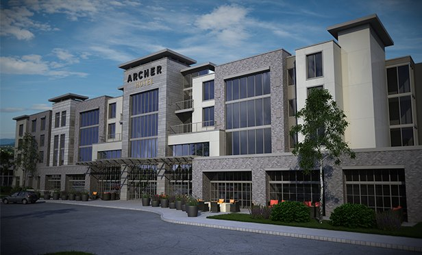 Rendering Of Archer Hotel Planned For The Green At Florham Park Nj