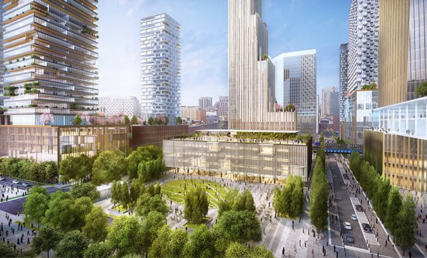 Rendering of Schuylkill Yards project