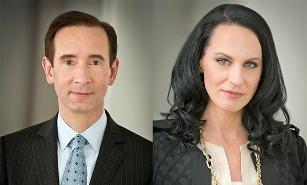 Matthew Harding, left, and Melissa Sievwright of Levin Management