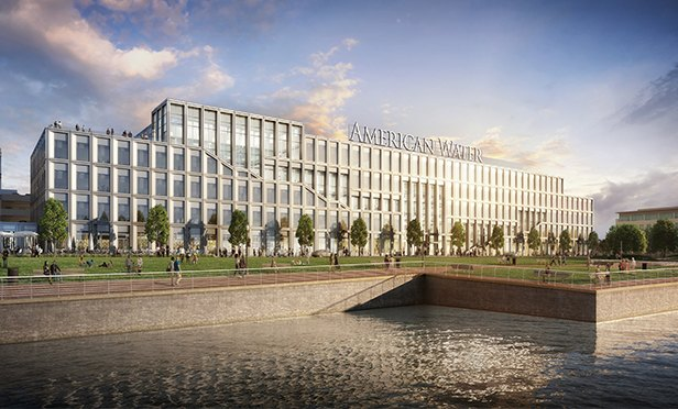 Rendering of new American Water headquarters being developed by Liberty Property Trust in Camden, NJ