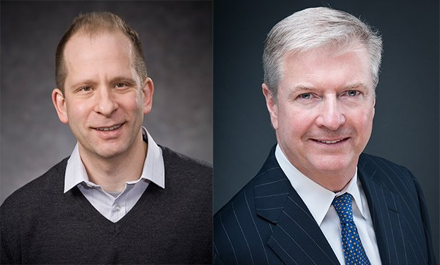 Prof. Morris Davis, left, Paul V. Profeta Chair and Academic Director of the Center for Real Estate at Rutgers Business School, and Kevin Riordan, named Executive Director of the Center.