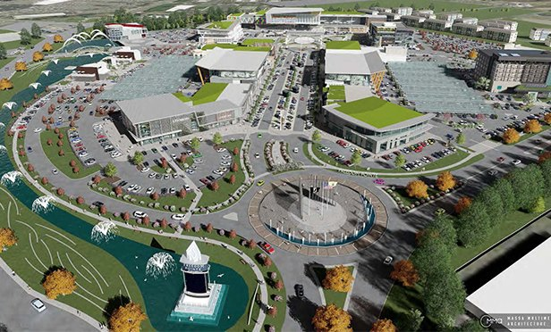 Rendering of proposed Freedom Pointe mixed use development near West Gate of former Ft. Monmouth in Eatontown, NJ