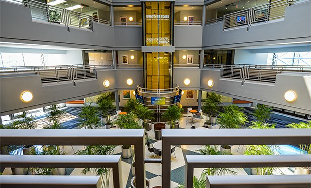 Atrium of Triad office building, 2200 Renaissance Blvd., King of Prussia, PA