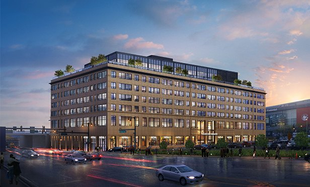 Rendering of Ironside Newark, Mulberry Commons, from McCarter Highway, Newark, NJ
