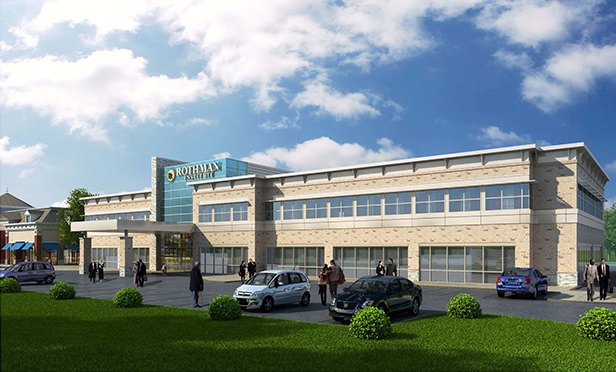 Rendering of the medical office building planned for the Rothman Institute at Washington Square Town Center, Washington Township, NJ