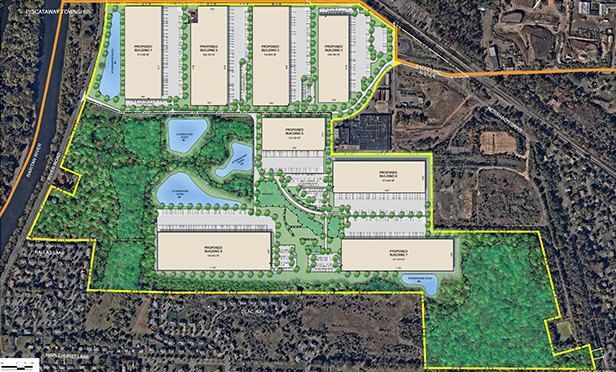 Proposed site plan for Rockefeller Logistics Center, 171 River Road, Piscataway, NJ