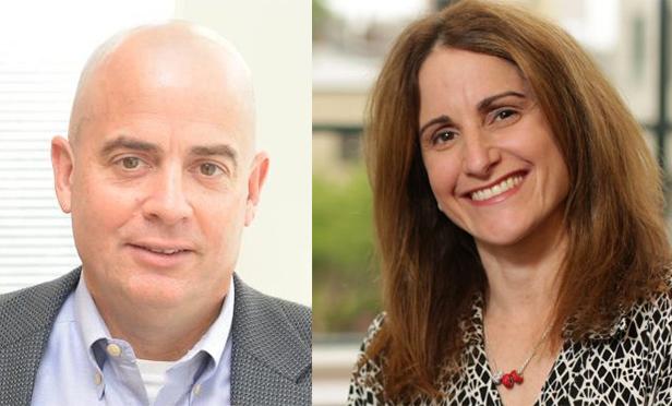 Flint Lane, left, CEO of BIlltrust, and Melissa Orsen, CEO of the NJ Economic Development Authority