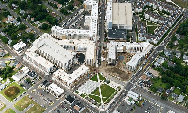 Aerial view of Rowan Boulevard development, Glassboro, NJ