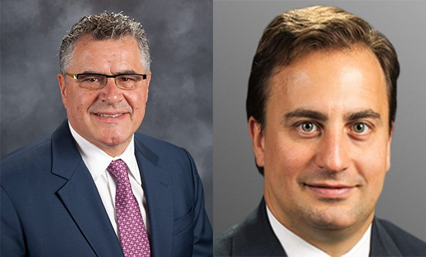 Joseph Sarno, left, executive vice president, and Nicholas Hilton, senior vice president, CBRE