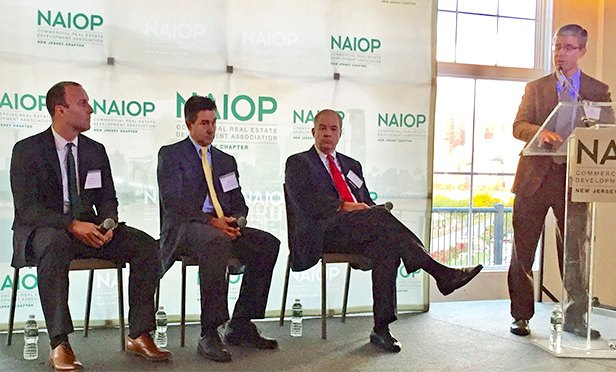 Panelists at NAIOP NJ CEO Perspectives Conference, from left: Mark Crawford,  Duke Realty; Gene Diaz, Prism Capital Partners; Joe Taylor. Matrix Development Group; and discussion leader (and NAIOP NJ President) Dave Gibbons,  Elberon Development Group.