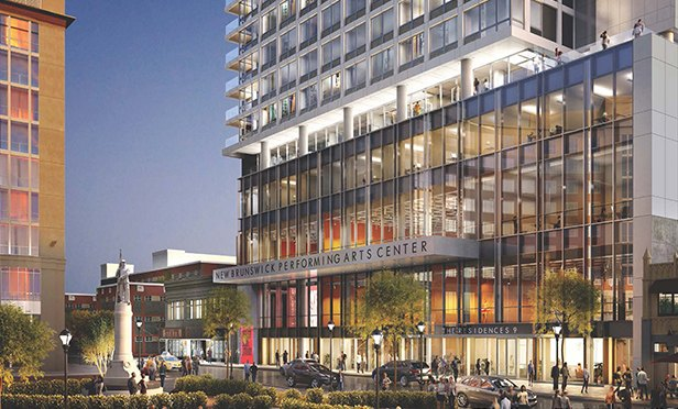 Rendering of the New Brunswick Performing Arts Center, New Brunswick, NJ