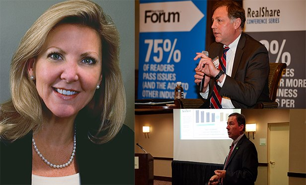 Clockwise from left: Sherry Cushman, executive managing director, Cushman & Wakefield's Legal Services Advisory Group; Paul Garvey, senior director, Cushman & Wakefield, Philadelphia; and Tim Quinn, branch solution sales specialist, NCR Corporation.