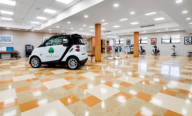 Gym and smart car at Oakland Rehabilitation and Healthcare Center, Oakland, NJ