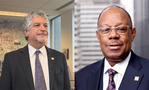 Alan Greenberger, a professor at Drexel University,  and former Deputy Mayor of Philadelphia, left; and Harold T. Epps, director of commerce, City of Philadelphia, will open this year's RealShare Philadelphia conference on Feb. 7 at the Union League Club in Philadelphia, PA,
