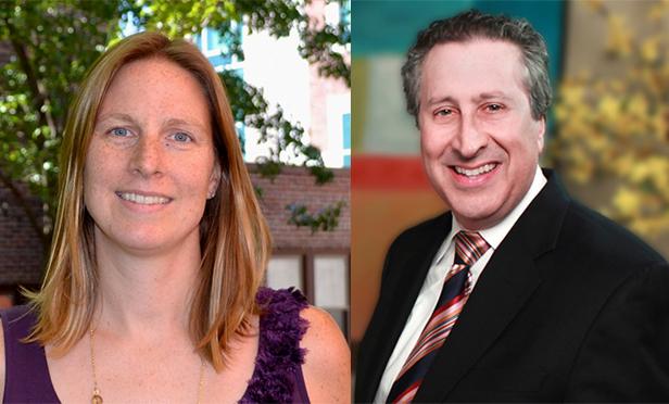 Downtown NJ's executive director, Courtenay D. Mercer, left, and president, Robert Goldsmith Esq.