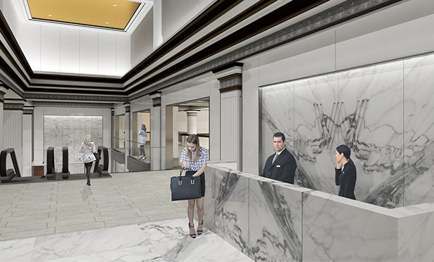 Rendering of Wanamaker Building north mezzanine, Philadelphia, PA