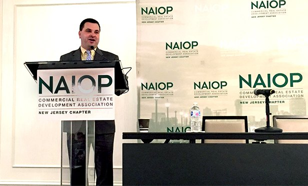 Anthony Attanasio delivers keynote address at the NAIOP NJ Infrastructure & Logistics Update conference in the Meadowlands.
