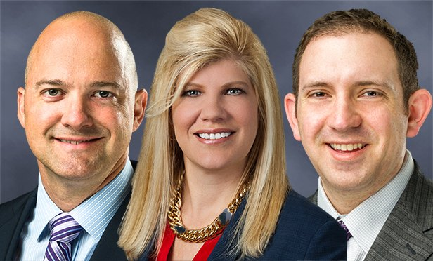 From left: Sterling Hale, senior director; Monetha Cobb, managing director; and Greg Eisenman, senior director, retail occupier services, Franklin Street. (Photo composite)