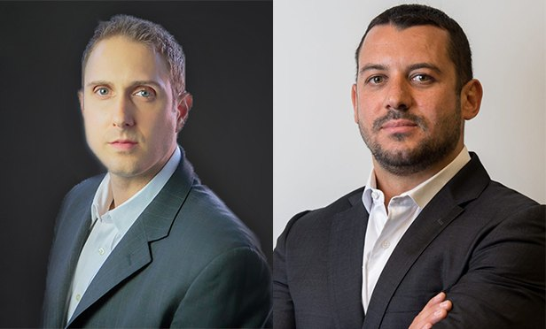 Adam Hendry, Tzadik Management founder and CEO, left, and Alexander Kaushansky, Arbor Realty Trust's vice president, origination