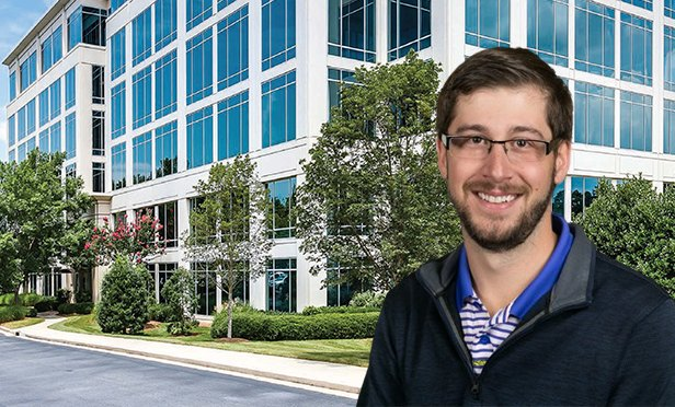 Andy Bean of Office Evolution, with Parkway 400, 11720 Amber Park Dr., Alpharetta, GA (Photo composite)