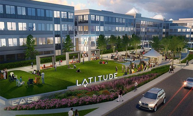 Rendering of new entry at LATITUDE, the reimagined Morris Corporate Center IV, Interpace Parkway, Parsippany, NJ
