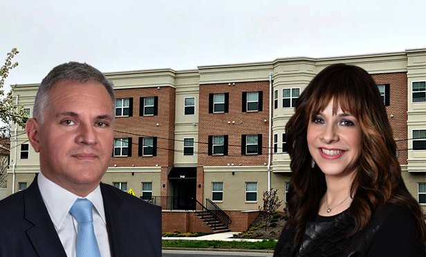 David Oropeza (left), executive managing director, Gebroe-Hammer Associates, and Debbie Pomerantz, senior vice president, with 742 Park Ave., East Orange (photo composite)