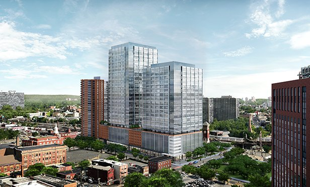 Rendering of the SJP-Aetna redevelopment project on the former Westinghouse site, Newark, NJ