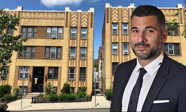 92-96 Highland Ave., Jersey City, one of the Gateway Portfolio properties, with Nicholas Nicholaou of Gebroe-Hammer Associates, who sold the portfolio (Photo composite)