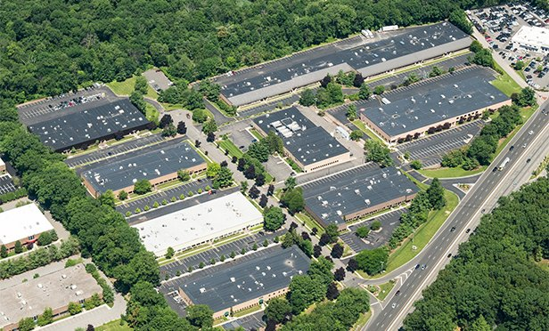 Aerial view of 1-3, 5-7 Pearl Court and 59 Route 17 South, Allendale, NJ